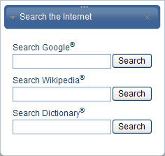Search the Internet from within OneGreatFamily
